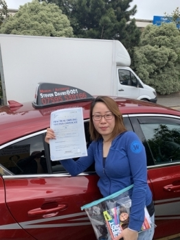 Congratulations to Vickii who passed her test first time today in the new car. Well done. Icky